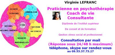 Virginie Lefranc, praticienne en psychothérapie