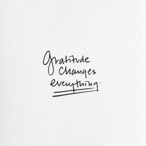Aujourd'hui, être reconnaissant