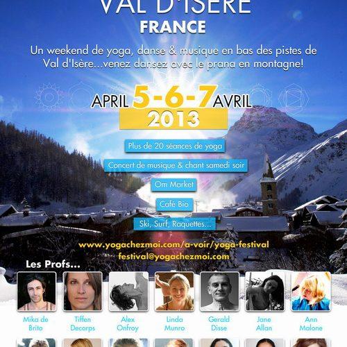 Yoga festival à Val d'Isère – 5 et 7 avril 2013