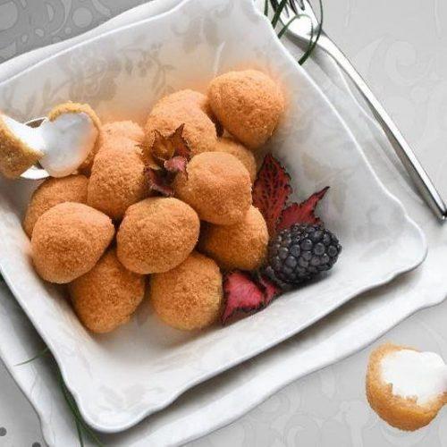 Recette végétarienne – Bocconcinis panés et pesto à l'ail