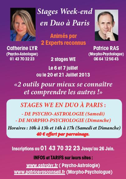 Stage_Astrologie et Morpho-Psychologie