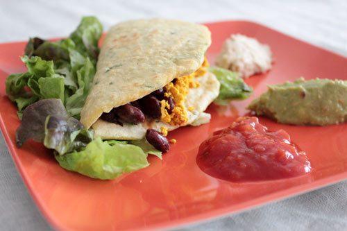 Recette végétarienne: Tortillas au maïs et aux haricots rouges