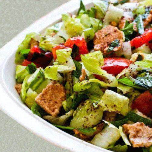 Recette végétarienne-Salade fattoush