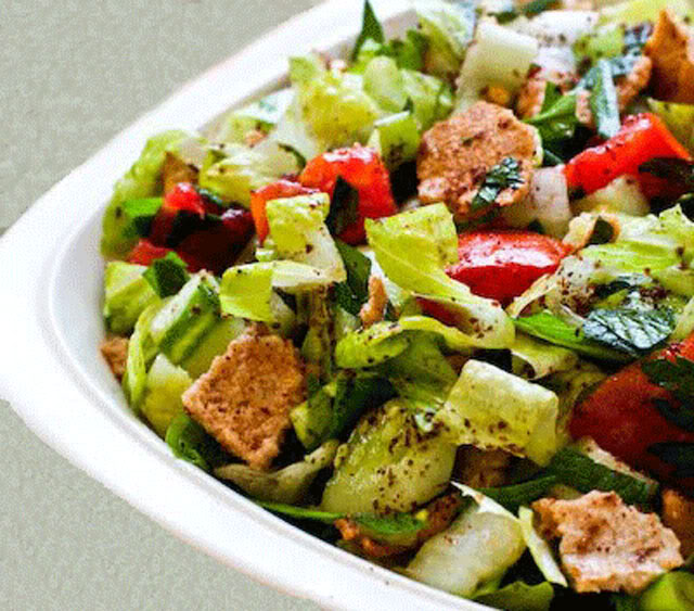 Fattoush-Inspired Chopped Salad With Tahini-Buttermilk Dressing ...