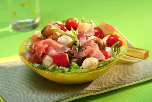 Recette végétarienne-Salade de pommes de terre aux fruits
