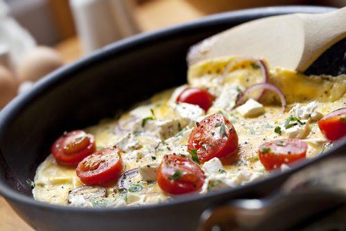 Recette végétarienne-Omelette à la grecque