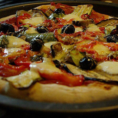 Recette végétarienne-Pizzas aux légumes grillés