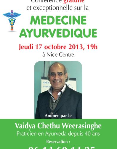 Conference sur la médecine ayurvedique avec Vaidya chethu Weerasinghe