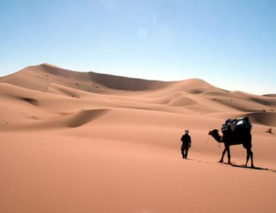 Passage vers l'an neuf dans le désert tunisien