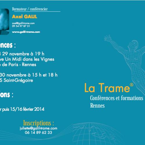 Conférence sur la Trame, à Rennes par Axel Galil