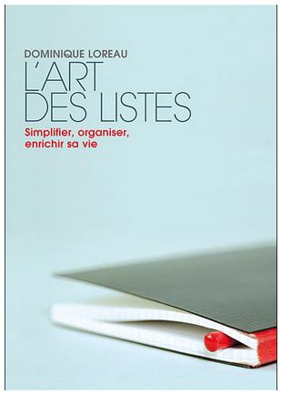 Livre de développement personnel «L'art des listes» de Dominique Loreau