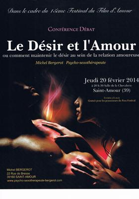 Conférence-Le Désir et l'Amour avec Michel Bergerot