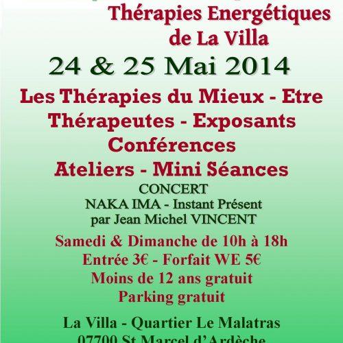 Salon des pratiques et Thérapies Énergétiques de La Villa des 24 et 25 mai 2014