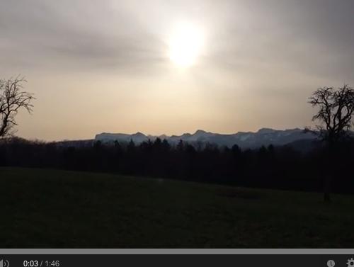 Méditation du matin au coeur de la Suisse