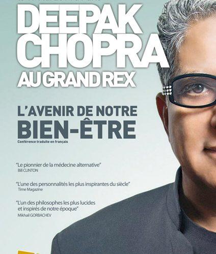 Deepak Chopra à Paris le 19 mai 2014