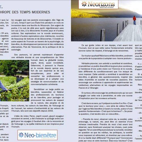 Interview de Julien Peron par le magazine Essentiel (Québec)