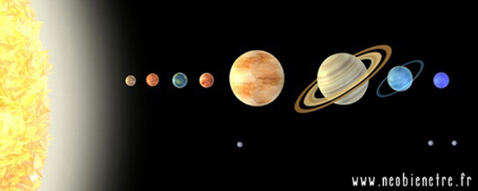 3d render of solar system