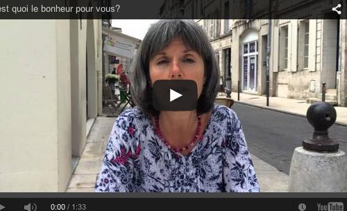 C'est quoi le bonheur pour vous? Christine – Poitou-Charentes