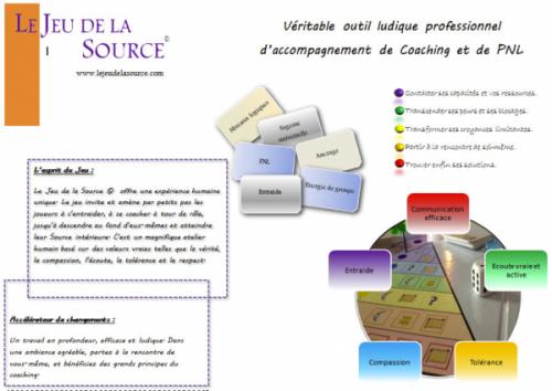 Atelier / découverte du Jeu de la Source pour les professionnels de l'accompagnement.