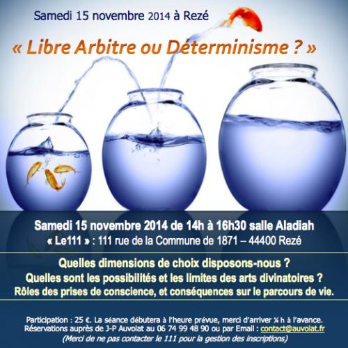Libre Arbitre et Déterminisme par Jean-Paul Auvolat