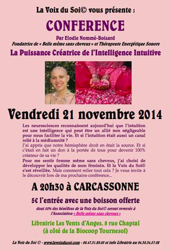 Conférence-La Puissance Créatrice de  l'Intelligence Intuitive par Elodie Nommé-Boisard