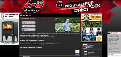 Julien Peron sur les ondes de CFM Radio