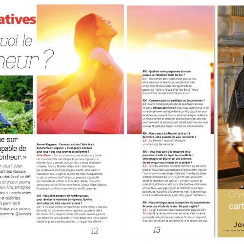 Julien Peron dans Belle magazine à La Réunion