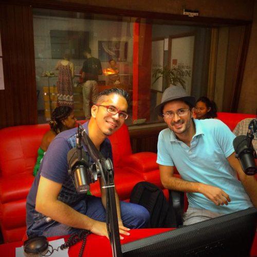 Julien Peron interviewé sur les ondes de radio one à l'île Maurice