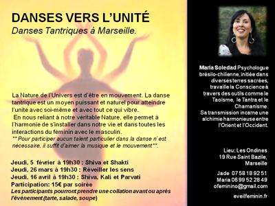 Stage DANSES VERS L'UNITÉ : Danses Tantriques avec Maria Soledad