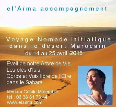 Voyage nomade initiatique dans le désert avec Cécile Malembic