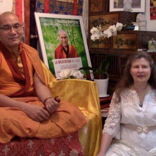 Julien Peron, Phakyab Rinpoché et Sofia Stril-Rever