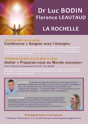 Conférence atelier Soigner avec l'énergie de Dr Luc Bodin et Florence Leautaud