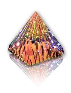 Pyramides Coeur Cristal
