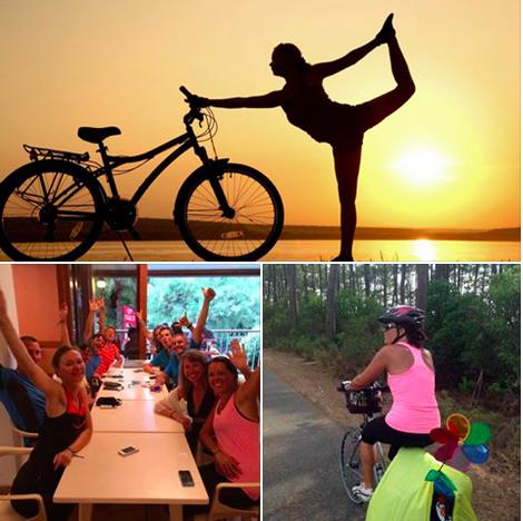 Vélo, yoga et méditation, témoignages de participants