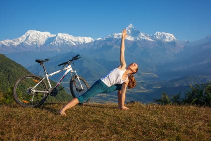 Vélo, yoga et méditation des ingrédients parfaits