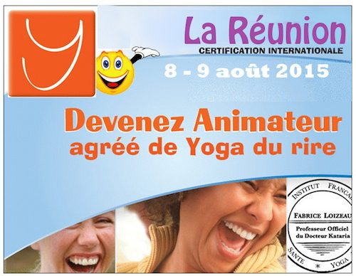 STAGE ANIMATEUR AGREE YOGA DU RIRE PARIS 10 ET 11 OCTOBRE