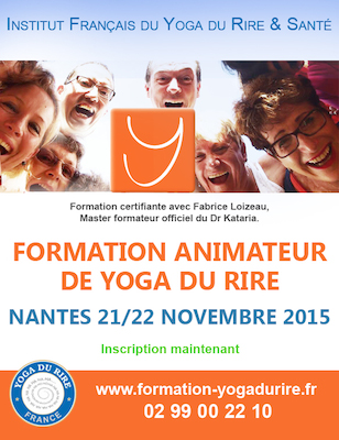 STAGE ANIMATEUR AGREE YOGA DU RIRE NANTES