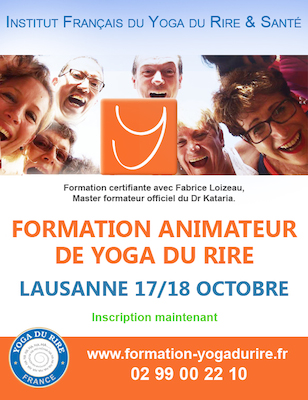 STAGE ANIMATEUR AGREE YOGA DU RIRE LAUSANNE