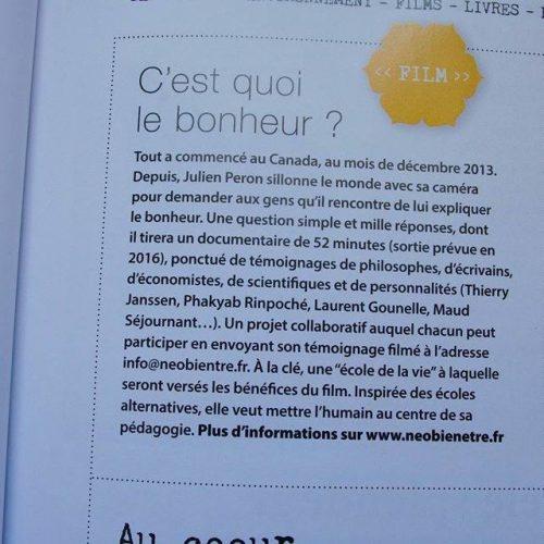 Happinez parle de Neo-bienêtre et Julien Peron