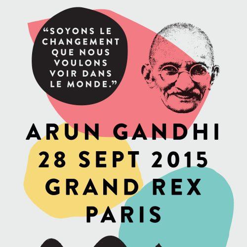 Le lundi 28 septembre 2015 au Grand Rex à Paris, pour la première fois en France, Arun Gandhi