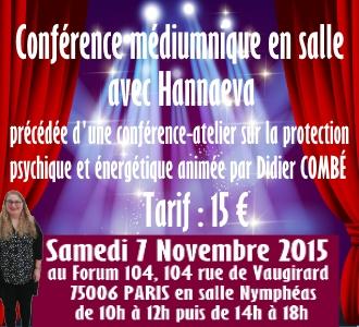 Conférence médiumnique en salle avec Hannaeva
