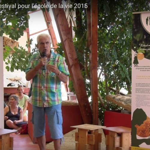 Christian Tal Schaller au festival pour l'école de la vie 2015