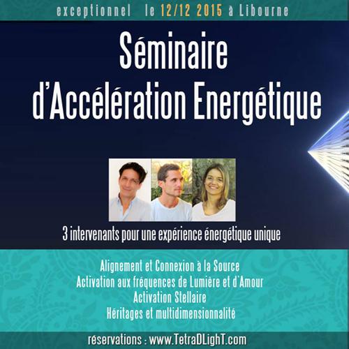 Libourne- Séminaire d'accélération Energétique le 12/12