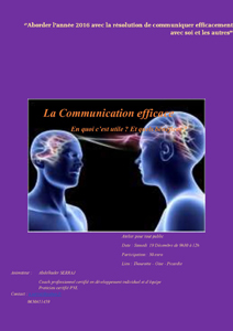 Atelier «Communiquer efficacement avec soi et les autres»
