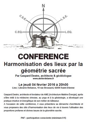 Conférence Harmonisation des lieux par la géométrie sacrée