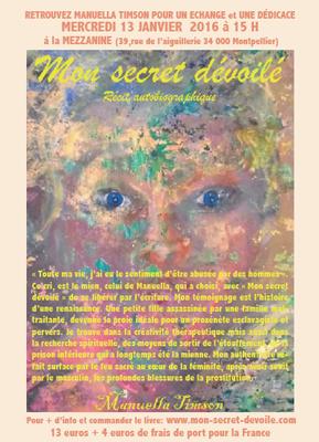 Conférence de Manuella Timson, Mon secret dévoilé