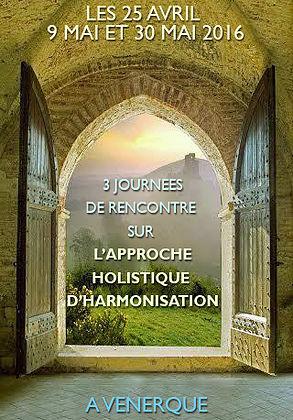 3 journées de rencontres sur l'approche holistique d'harmonisation