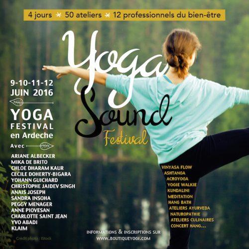 Participez au Yoga Sound festival, du 9 au 12 juin 2016
