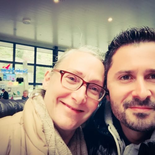 Julien Peron aux Açores avec Milena Trindade Dinsenmeyer