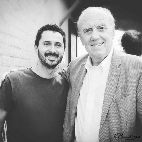 Julien Peron et le professeur Henri Joyeux au 2ème festival pour l'école de la vie
